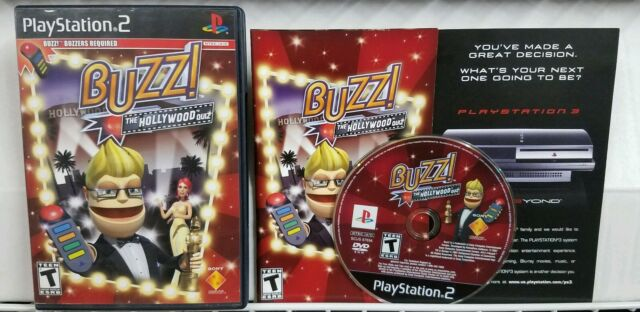 Buzz The Hollywood Quiz Game CIB w/ Manual PlayStation 2 PS2 EXCELLENT