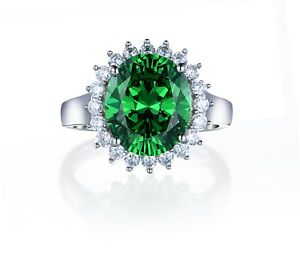 925-Sterling-Silver-Princess-Diana-ring-2-Carat-Lab-Created-Emerald-amp-Diamonds