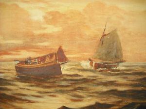 George-Sykes-1863-Zeichnung-Original-Unterzeichnet-Schiff-Pfirsich-Navy-Tec