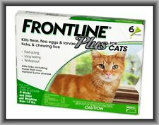 Merial FRONTLINE Plus Flea & Tick Control for Cats Over 1 5 Lbs 6 Month Supply