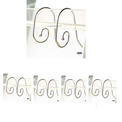 10 pcs Interchangeable Spiral 925 Sterling Silver Ear Wires Ball End F373