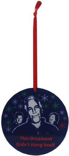 Jeffrey Epstein Acrylic Ornament This Ornament Didn/'t Hang Itself