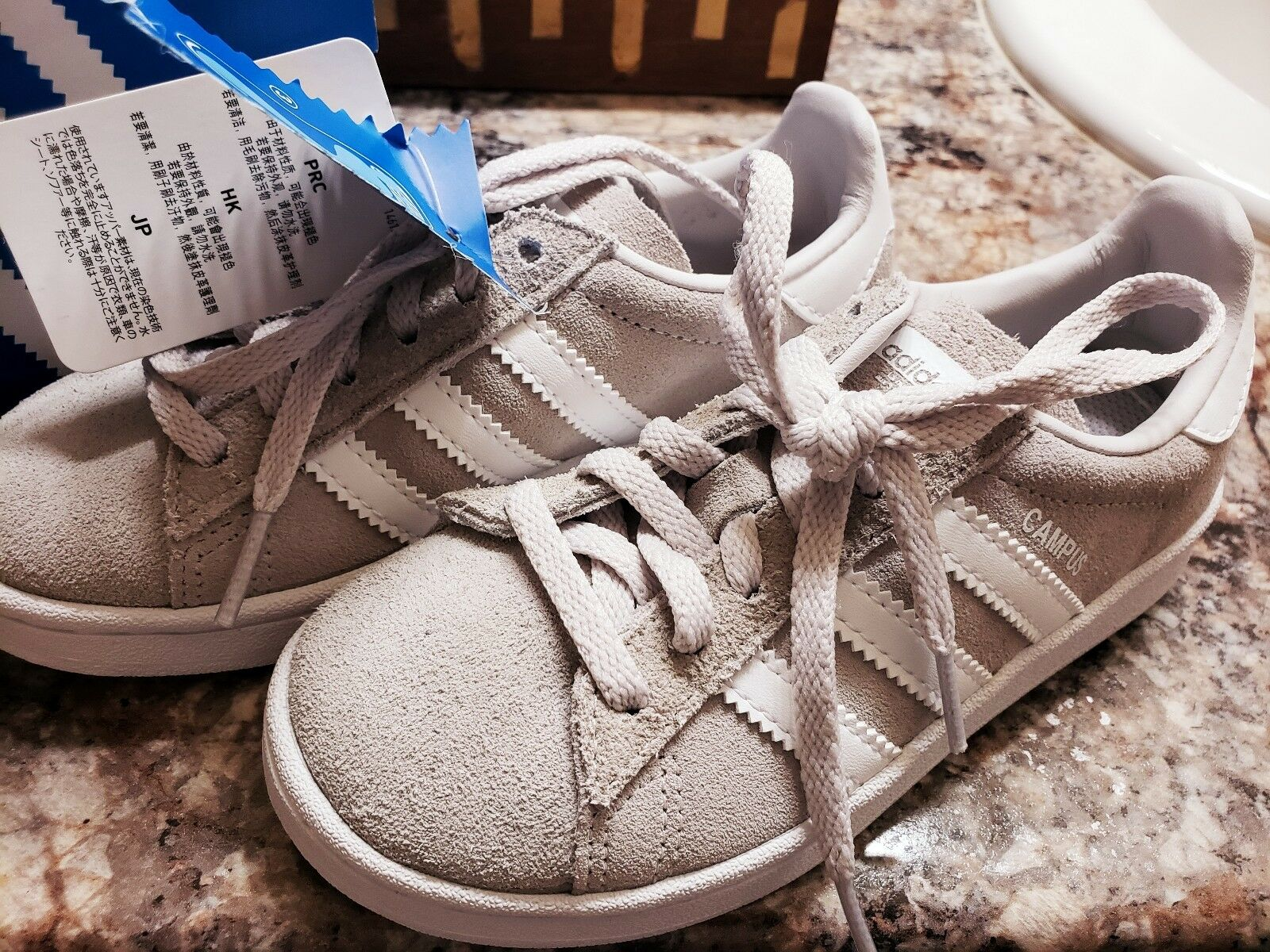Kids Campus C Sneaker Gray Suede Size