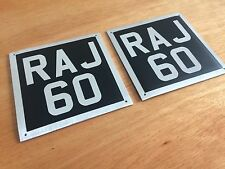 Toylander Old Style Number Plates 3 Letters 3 Numbers Black & Silver
