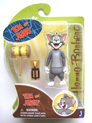 Tom Action Figure w// hammer and cheese trap Hanna Barbara Tom And Jerry