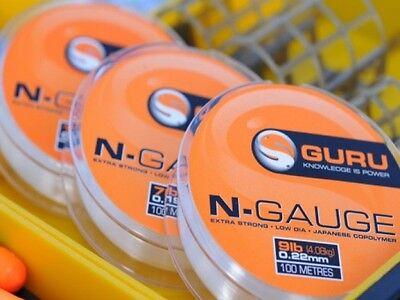 Guru NEW N-Gauge Monofilament Pole Match Line Hooklink/Length 100m *All Sizes*