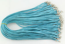 Wholesale 10pcs blue Suede Leather String 20 inches Necklace Cord
