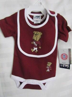 Mississippi State University MSU Bulldogs Baby Bodysuit Creeper Bib 6-9 Month mo