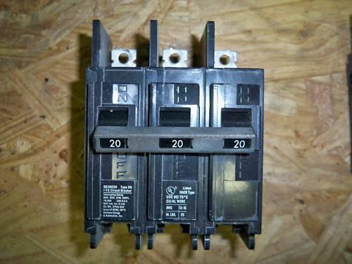 Siemens ITE BQ3B020 circuit breaker 3pole 20amp 240v warranty!