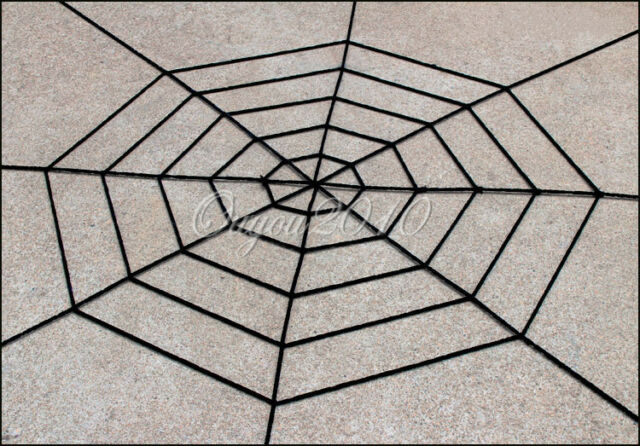 Giant White/Black Chenille SPIDER WEB Haunted House Halloween Props Decoration