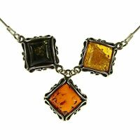 18 Inch/45cm Baltic Amber Sterling Silver 925 Ladies Necklace Jewellery Jewelry
