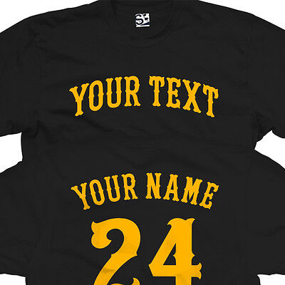 Custom Fenway T-Shirt - Personalized Baseball Arched Text with Name & Number