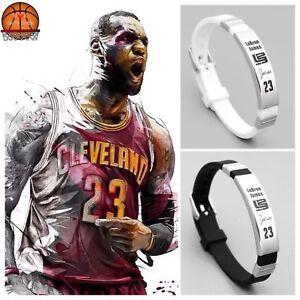 Image Is Loading 2 Lebron James Nba Basketball Bracelet Silicone Stainless