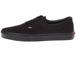 Men s Vans Era BLK BLK Fashion Sneakers Canvas Shoes All Sizes NEW ... fea72abaa12