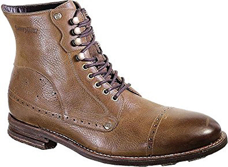 Caterpillar CAT Legendary Leather Raw Murray Medium Brown Leather Legendary Lace Up Ankle Boots a50bb7