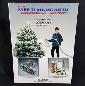 image is loading sno jet flock christmas tree snow flocking 1lb