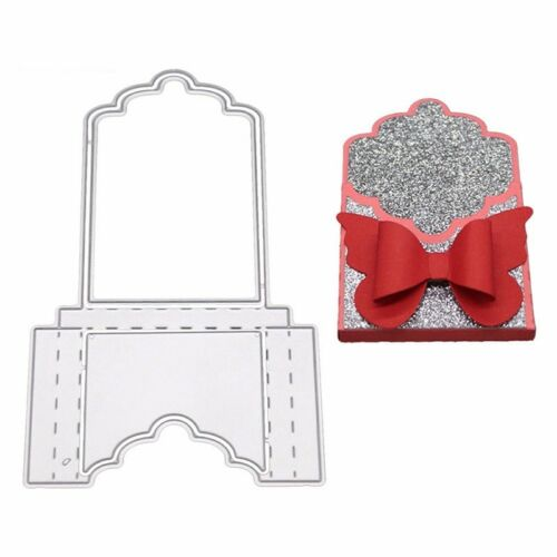 Metal Cutting Dies 3D Pockets Stitched Paper Cards DIY Embossing Crafts Stencils