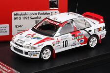 Lancer Evo II 1995 Swedish Rally **WINNER** -- snow tires! -- HPI #8547 1/43