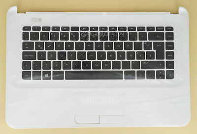 NEW for HP 14-d030la 14-d032la 14-d034la Keyboard White Palmrest Latin Spanish
