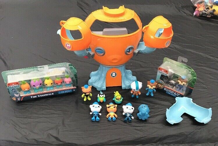 FISHER PRICE OCTONAUTS OCTOPOD  PLAYSET W  NEW FIGURES VEGIMALS & VEHICLES