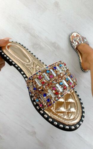 IKRUSH Womens Kizzy Multi Colour Embellished Sandals