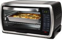 Steel Oster Large Capacity Countertop Digital Convection Toaster Oven Black