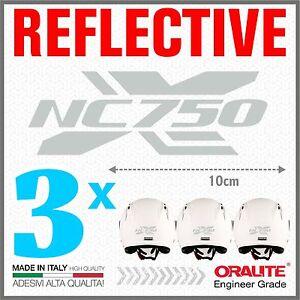 3x-Reflektierende-Aufkleber-Grau-Weiss-Kompatibel-mit-Nc-750-S-HONDA-NC750
