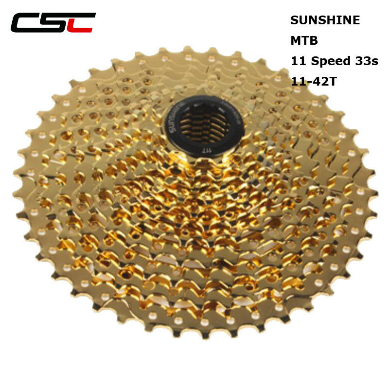 Sunshine Bicycle 11 Speed 11-42T Cassette 11s golden Mountain Bike Freewheel