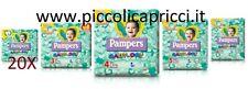 PANNOLINI PAMPERS BABY DRY 20 PACCHI TAGLIA MISURA 2-3-4-5-6 A SCELTA