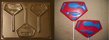 Superman Emblem Lollipop Chocolate Candy Soap Crayon  Mold