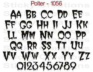 Image is loading 1056-CUSTOM-DRIPPING-TEXT-Vinyl-Letters-Decal-Graphic-