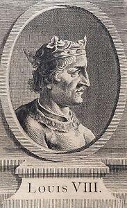 Very-Rare-Print-Original-Louis-VIII-18th-Anonymous-King-France-King