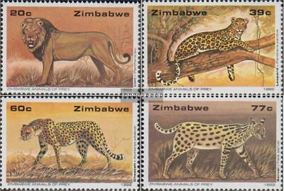 complete.issue. Unmounted Mint Never Hinged 1992 Predators A Wide Selection Of Colours And Designs Zimbabwe 472-475