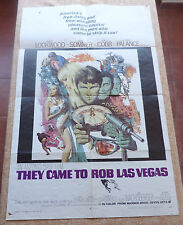 They Came to Rob Las Vegas Movie Poster, Original, Folded, One Sheet, year 1968