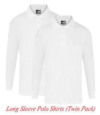Girls Lace Frill Collar Blouse School Uniform White Long Sleeves 4-12 Yrs GB3108