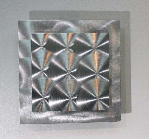 Statements2000 3D Metal Wall Art Panel Modern Silver Accent Decor by Jon Allen