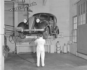 Carter'S Auto Repair >> Details About Photograph Of A W Carter S 1936 Auto Repair King System Tune Up Shop 8x10