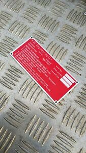 Details about Series Landrover Fairey Winch Label - NEW - Capstan PTO