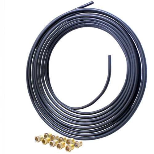 5//16 x 25 Poly-Armour Brake Line Coil and Tube Nut Kit