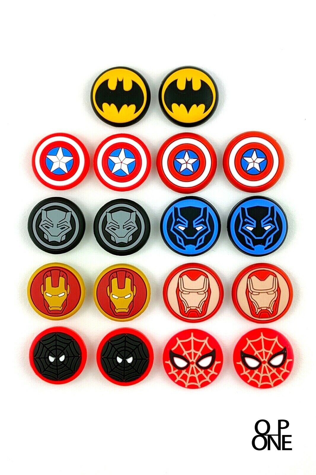 2x Superhero Controller Thumb Grips Caps Cover for Xbox One, PS4, Xbox X & PS5