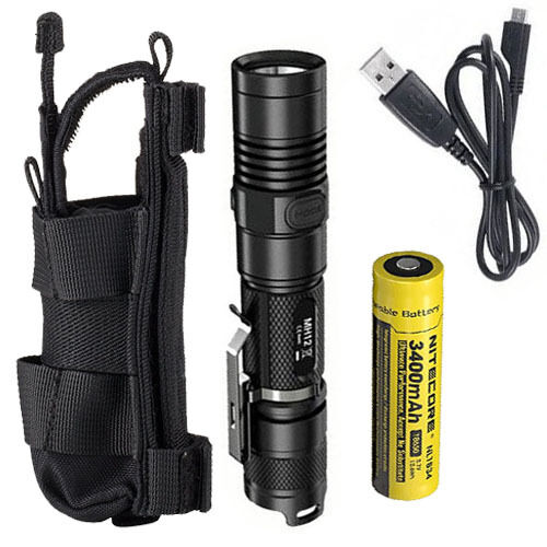 Combo Nitecore MH12GT Rechargeable Flashlight w//NCP40 Holster
