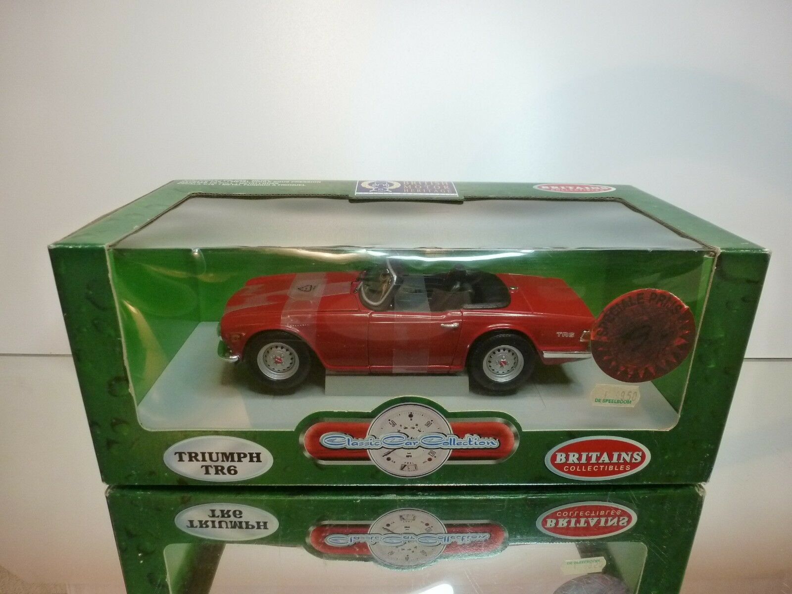 CLASSIC CAR COLLECTION TRIUMPH TR6 - rot 1 18 - EXCELLENT CONDITION - IN BOX