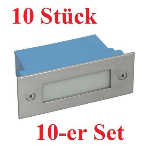 10er Set LED Einbauleuchte TAXI 12 LEDs WarmWeiß Treppenleuchte 0,6W Treppenspot