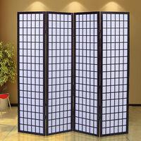 4 Panel Room Divider Screen Japanese-oriental Style Shoji Solid Wood Cherry