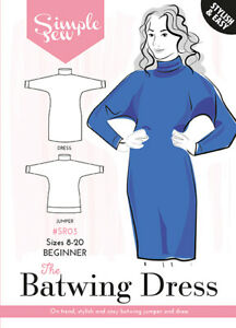 Womens-The-Simple-Sew-Batwing-Dress-and-Jumper-UK-SIZES-8-20-Sewing-Pattern