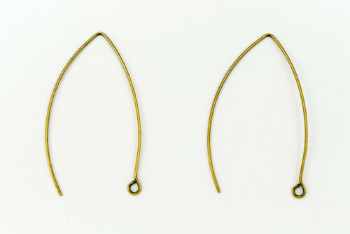 45mm Antique Brass V Shaped Ear Wire #EFE102