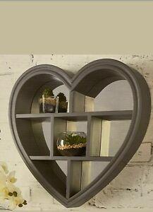 Loft Range Heart Mirror Shelf Grey Now Back In Stock Ebay
