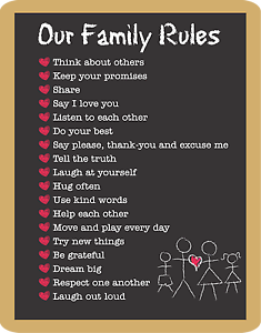 Family-Rules-happiness-love-Home-decor-wall-high-quality-Canvas-print-art-gift