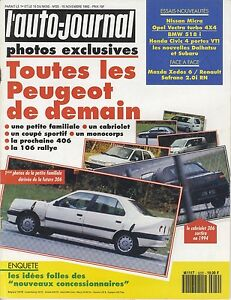 L-039-AUTO-JOURNAL-1992-n-20-Peugeot-406-Nissan-Micra