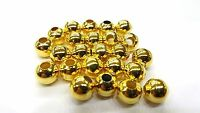 100 pieces 8mm Gold Tone Finding Beads - A6765